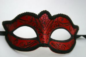 Red and Black Mask - Red Sparkling Mask | Masks and Tiaras
